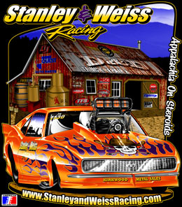 Camp Stanley | Stanley & Weiss Racing ADRL Camaro Pro Mod Drag Racing T Shirts