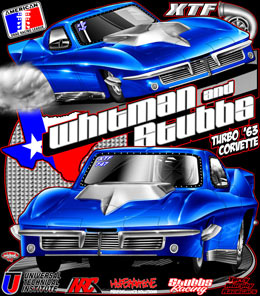 Whitman and Stubbs Racing | ADRL XTF 63 Corvette Drag Racing T Shirts